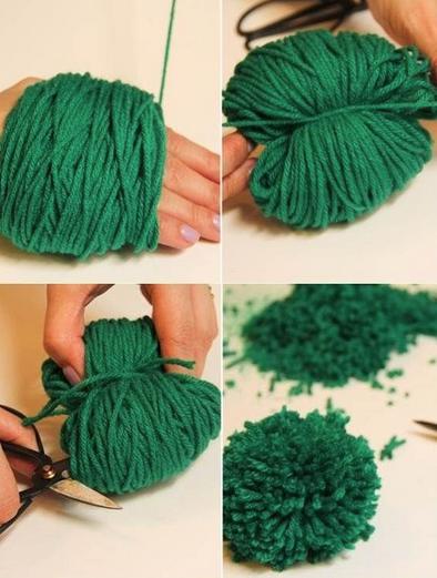 Manualidades con pompones ideales para el blog de - Para hacer pompones de lana ...